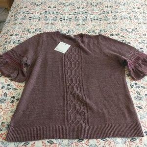NWT Ruffle sleeve summer sweater